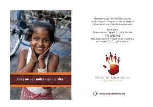 Dona il tuo 8 x 1000 a Progetto Familia